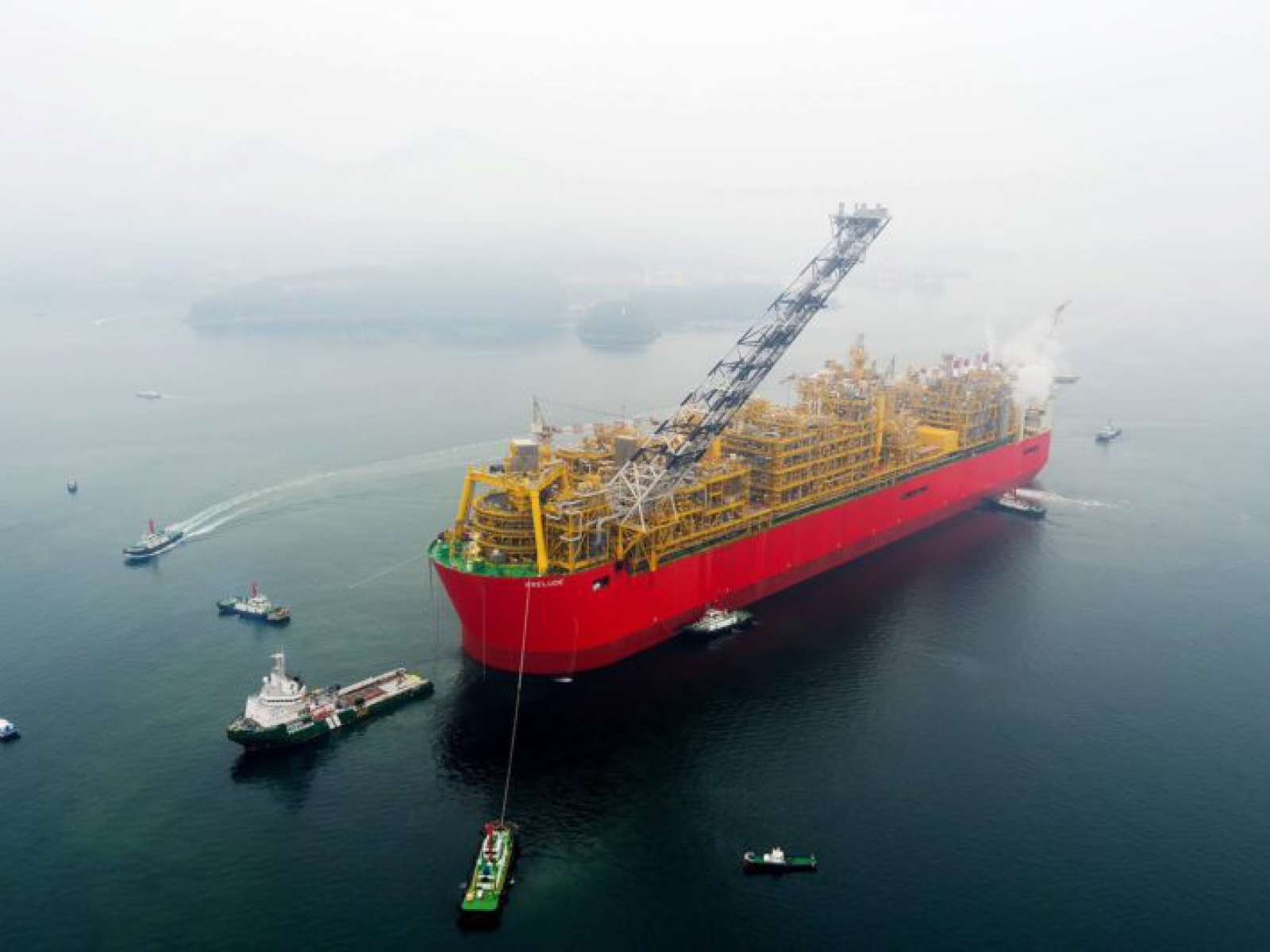 First stage of Prelude FLNG project finished