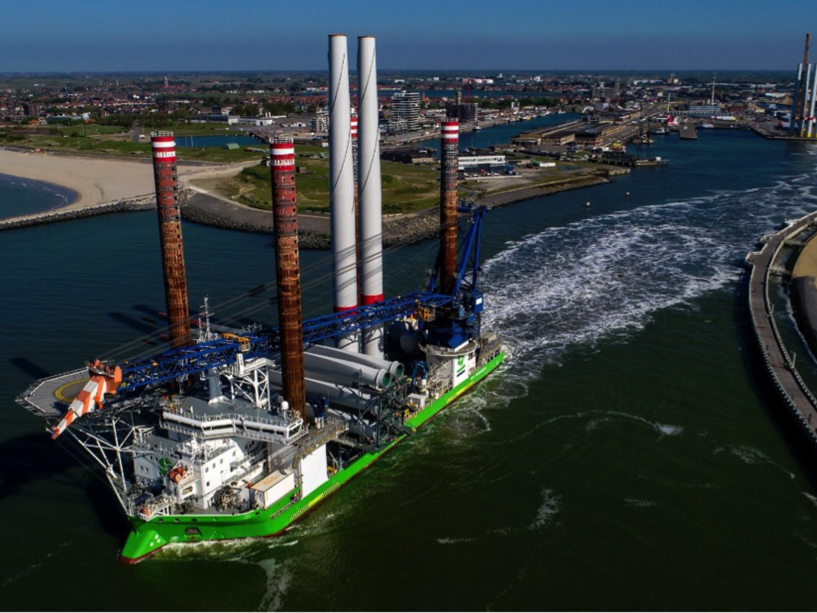 Wireless communication in Rentel Offshore Wind farm